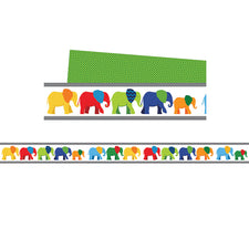 Parade of Elephants Straight Bulletin Board Borders
