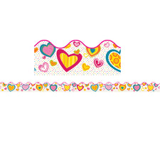 Hearts Scalloped Bulletin Board Border