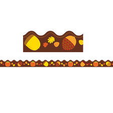 Acorns & Pumpkins Scalloped Bulletin Board Border