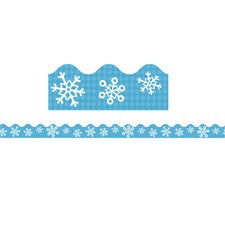 Snowflakes Scalloped Bulletin Board Border