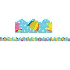 Spring Showers Scalloped Bulletin Board Border