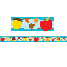 Apples & Acorns Straight Bulletin Board Border