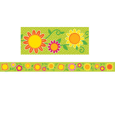 Sunshine & Flowers Straight Bulletin Board Border