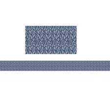 You-Nique Navy Feather Straight Bulletin Board Border