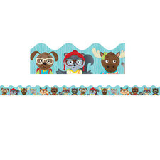 Hipster Pals Scalloped Bulletin Board Border