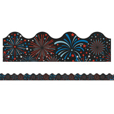 Fireworks Scalloped Bulletin Board Border