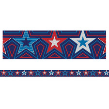 Star-Spangled Straight Bulletin Board Border