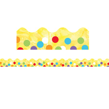 Celebrate Learning Confetti Scalloped Bulletin Board Border