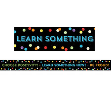 Celebrate Learning Think Positive Straight Bulletin Board Border