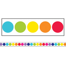 Twinkle Twinkle You're A STAR! Rainbow Big Dots Straight Bulletin Board Border