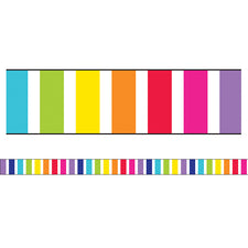 Twinkle Twinkle You're A STAR! Vertical Rainbow Stripes Straight Bulletin Board Border