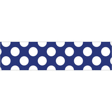 Navy with Polka Dots Straight Bulletin Board Border