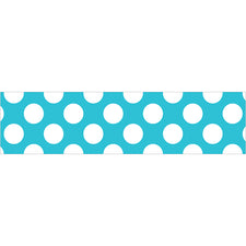 Teal with Polka Dots Straight Bulletin Board Border