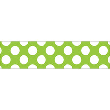 Lime with Polka Dots Straight Bulletin Board Border