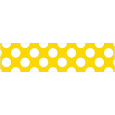 Yellow with Polka Dots Straight Bulletin Board Border