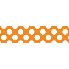 Orange with Polka Dots Straight Bulletin Board Border