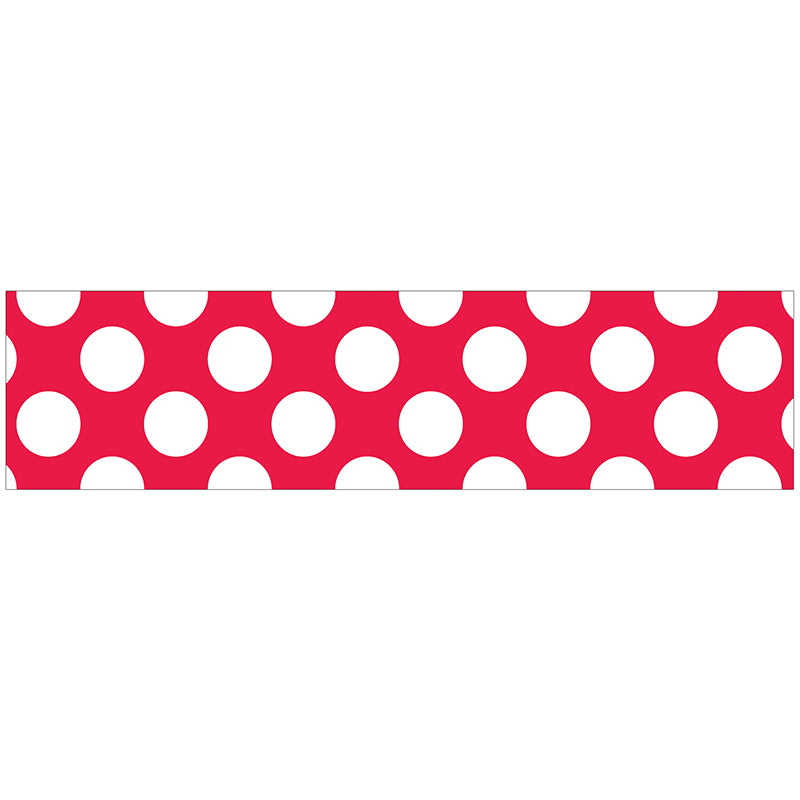 Red with Polka Dots Straight Bulletin Board Border