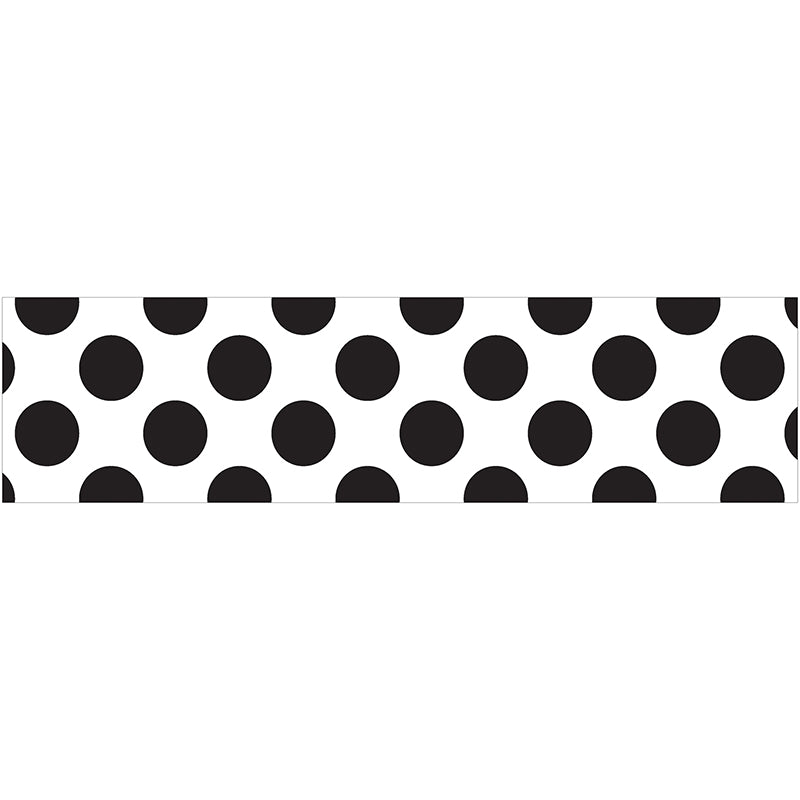 White with Polka Dots Straight Bulletin Board Border