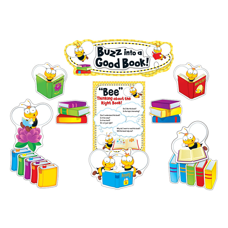 Classroom Decor Sets ~ Buzz worthy bees reading bulletin board set