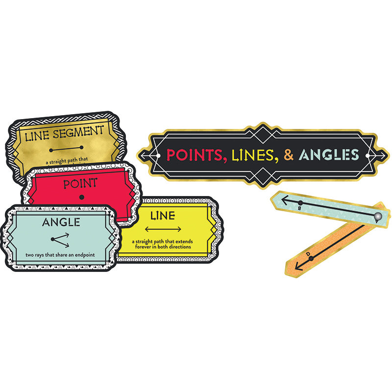 Aim High Points, Lines, and Angles Mini Bulletin Board Set