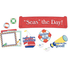 "S.S. Discover ""Seas"" the Day! Mini Bulletin Board Set"