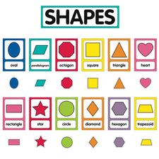 Just Teach Shape Cards Mini Bulletin Board Set