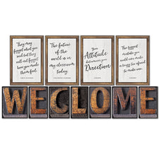 Industrial Chic Welcome Bulletin Board Set