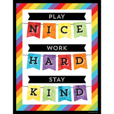 Play Nice, Work Hard, Stay Kind Chart