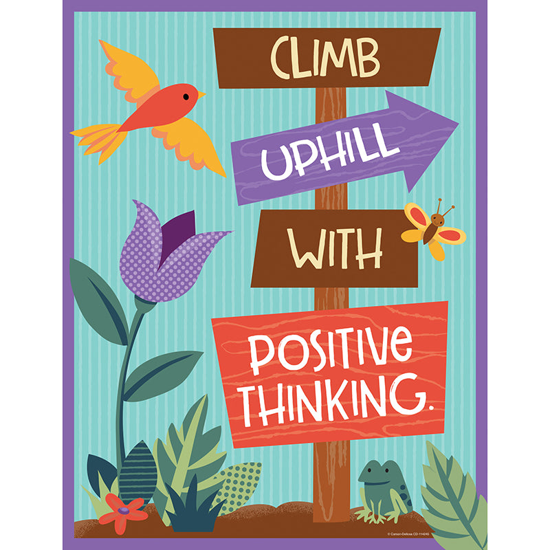 Nature Explorers Climb Uphill with Positive Thinking Chart