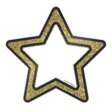 Sparkle and Shine Gold Glitter Stars Cut-Outs