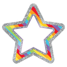 Sparkle and Shine Rainbow Glitter Stars Cut-Outs
