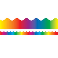 Rainbow Scalloped Bulletin Board Border