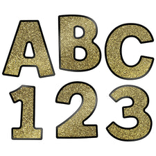 "Sparkle and Shine Gold Glitter 4"" EZ Letters Combo Pack"