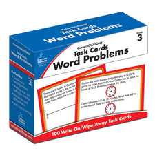 Task Cards: Word Problems Learning Cards, Grade 3