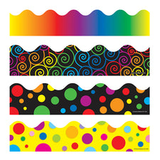 Scalloped Bulletin Board Borders, Set 4