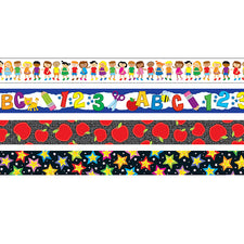 Back-to-School Straight Bulletin Board Border Set