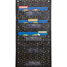 File Folder Storage: Gold Stars Pocket Chart
