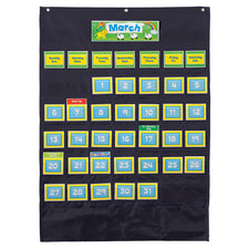 Deluxe Calendar: Black Pocket Chart