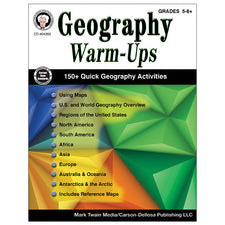 Geography Warm-Ups Resource Book, Grades 5-8