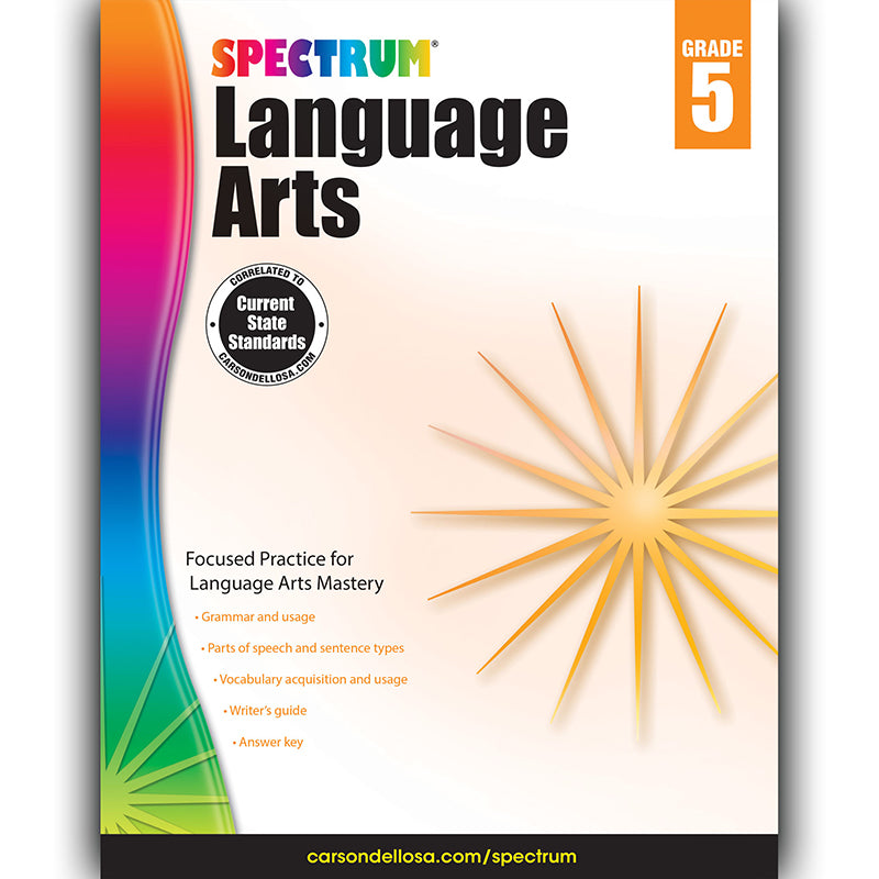 Spectrum Language Arts Workbook, Grade 5