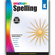 Spectrum Spelling Workbook, Grade K