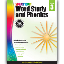 Spectrum Word Study and Phonics Workbook, Grade 3