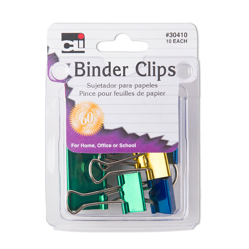 Binder Clips, Assorted Colors and Sizes (10 Pack)