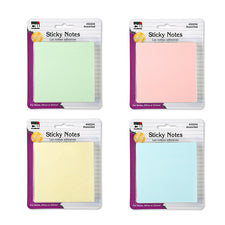 "Assorted Pastel Sticky Notes, 3"" x 3"""