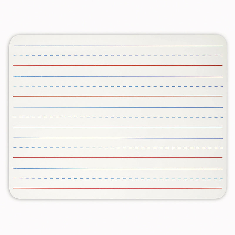 "Dry Erase Board 9"" x 12"", Lined White Surface"