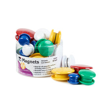 Round Magnets, Assorted Sizes & Colors