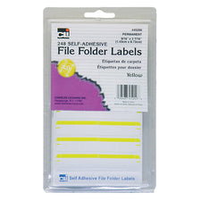 Self-Adhesive File Folder Labels, Yellow