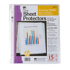 Economy Weight Sheet Protectors, 15 Per Package