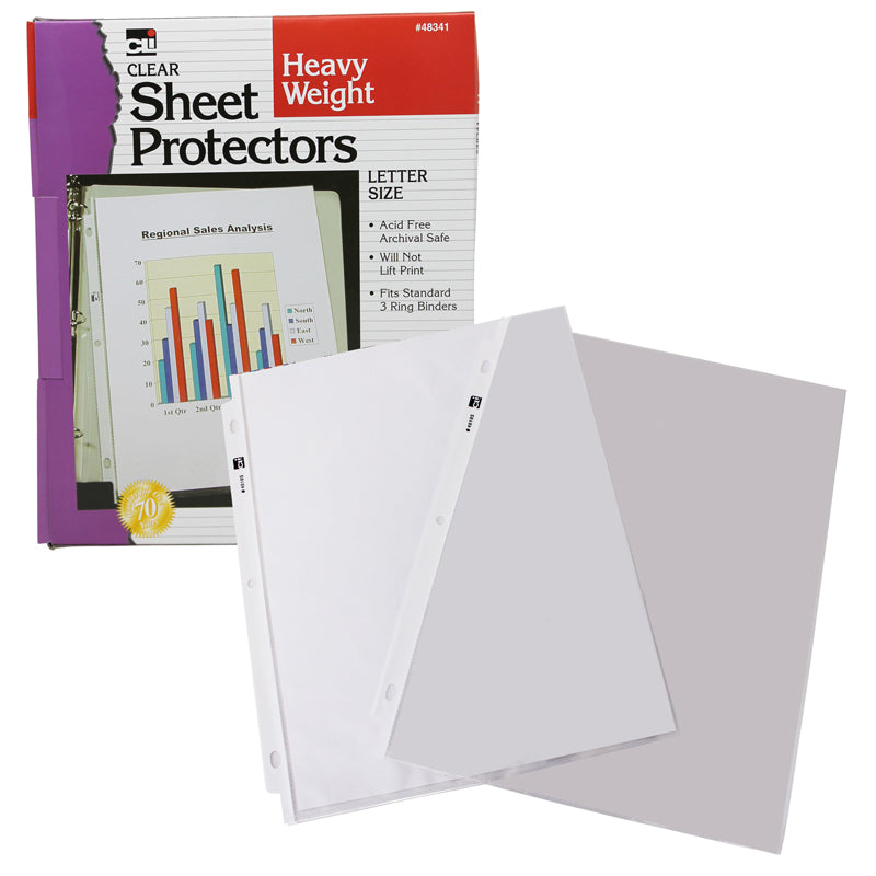 Heavy Weight Sheet Protectors, 100 Per Box