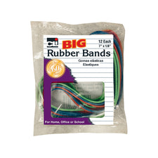 "Big Rubber Bands, 7 x 1/8"", 12Pk"